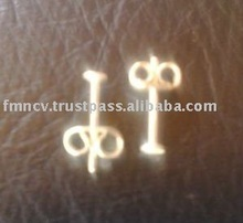 EWFMN60 - 925 Sterling Silver Earring Post with Locked