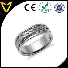 Latest braided wedding band,braided coated titanium ring ,fashion design braided men ring