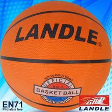 good new official size new style rubber made ball factory any logo printed rubber basketball