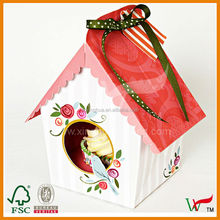 Triangle house cupcake packaging box design
