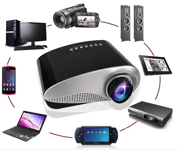 2015 popular colorful cheap mini projector 3d mapping for Small projector for mobile