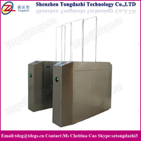 Security sliding gate automatic full height flap barrier for intelligent building