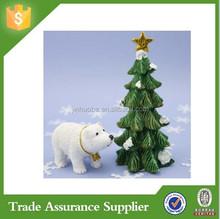 New Fashion Products Polyresin Polar Bear Green Christmas Tree