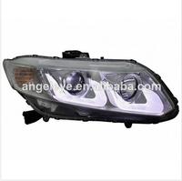 For HONDA CIVIC 2D 2012-2013 HEAD Lights HD596-B7W2U-BH CHROME HOUSING LF