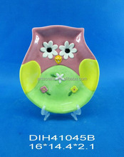 Animal shaped ceramic candy plate
