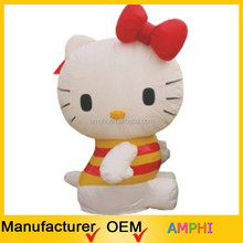 customized hot sale cheap giant customized lovely inflatable hello kitty for sale