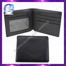custom logo black men genuine leather Private label Wallets