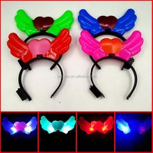 wholesale angel wings kid hair accessory, LED hairband, girls hair accessories