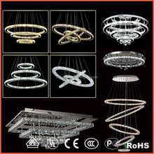 Factory Outlet lights Factory Outlet lamp 5 ring led crystal pendant