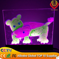glass and acrylice front adversiting fluorescent sparkle erasable led flashing writing board