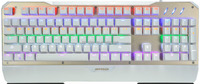 Full Size Aluminum Mechanical Keyboard with Kailh Axis USB PS/2 Wired LED Backlit