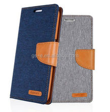 New Arrival Mercury Canvas Diary Leather Cover For Sony Z3