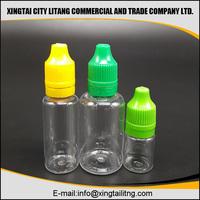 e-liquid flavor&PET Various capacities empty e -cig liquids clear plastic smoke oil dropper bottle,plastic bottle