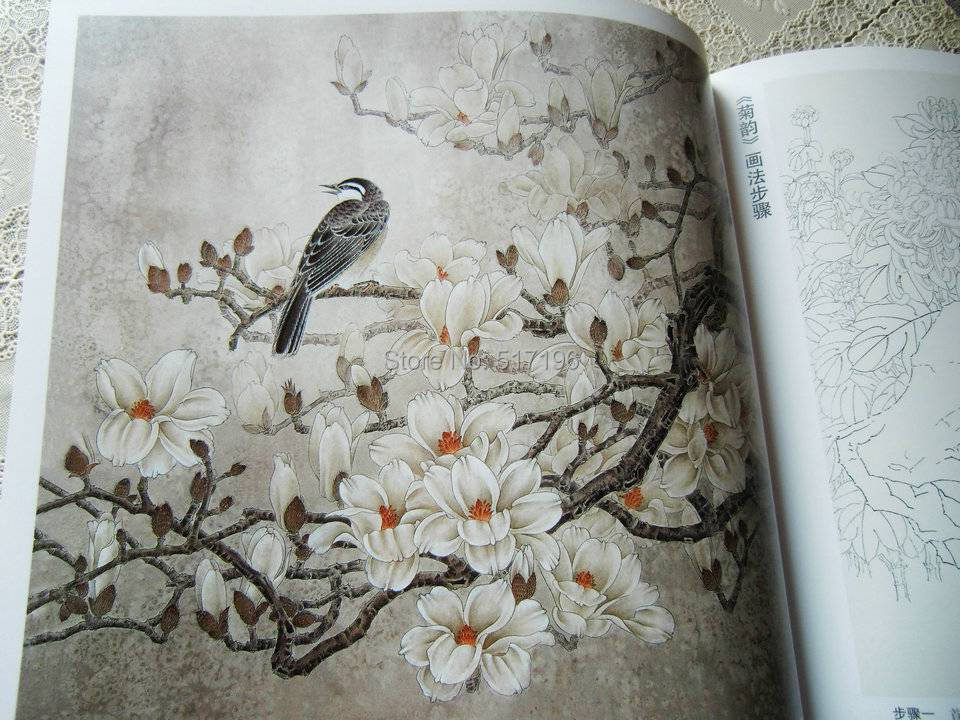 wholesale new tattoo books lotus peony flower bird chinese painting tattoo book tattoo flash. Black Bedroom Furniture Sets. Home Design Ideas