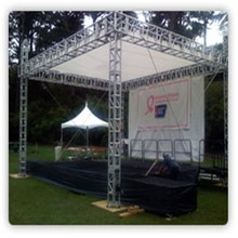 Aluminum Lighting Roof stage Truss for concert ,exhibition,party LED screen truss,390x390mm Square Tower Spigot truss
