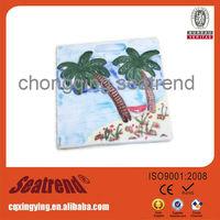 2013 hot sale customized souvenir resine magnets with beautiful landscape