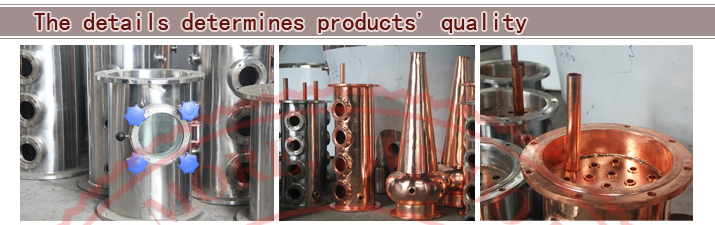 USA Hot Sales Copper vodka distillation equipment/copper distillation equipment/copper pot stills