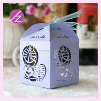 good quality laser cut paper baby shower candy box high quality handmade gift box for wedding TH-208