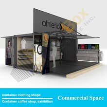 Container clothing shops Creative design, hydraulic system Mobile Shipping Container Garment shops