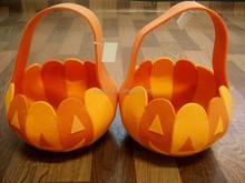 felt basket for halloween