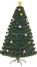 Fashion X'mas Ornament Supreme Led Fiber Optic With Stars Metal Stand Christmas Tree