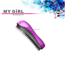 2015 My girl Hot sale easy clean plastic hair brush best A comb popular in USA,tangle brush/hair teezer