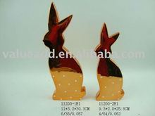 2012 ceramic easter electroplated rabbit decoration