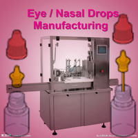 R-VF-D sterile 5ml 10ml eye drop PP bottle filling capping packing machine