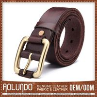 Custom-Made Genuine Leather Fashion Obi Belt