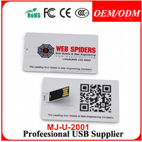 50pcs/lot 1GB Business card style USB pen drive, Card memory disk drive,Beautiful sign card usbs