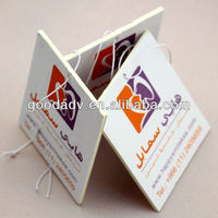 2013 custom design car fragrance paper card/vent fragrance/hanging paper car air freshener for promotion gift