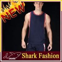 Shark Fashion mens bodybuilding gym string posing tank top plain gym tank tops