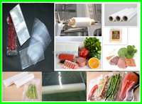 PA/PE 3 side sealed vacuum bags for chicken for food packing with FDA