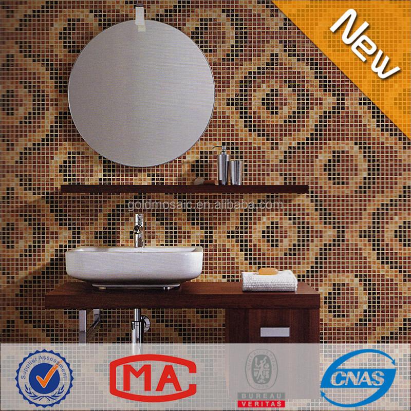 JY-P-B04 3D thủy tinh mosaic Hạt Gỗ thủy tinh Mosaic cho Tường