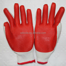10 cotton work glove ,cotton oven glove,rubber coated glove.ce glove, glove, cotton rubber glove
