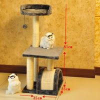 Sisal Scratching cat climbing frame - Solid wood furniture cat cage cat jumping cat supplies cat toys, cat litter
