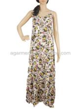 las señoras del tobillo longitud de cintura alta de gasa de américa latina vestidos
