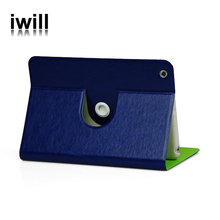 high quality products for ipad mini leather stand 360 rotation case