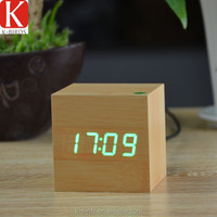 Customized wooden alarm led clock movements wholesale