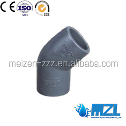 ASTM pvc PIPE fitting sch80 45 degree elbow