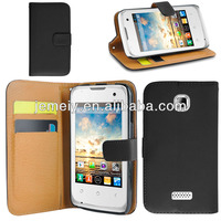 New fashional cheaper leather wallet case cover for wiko cink+