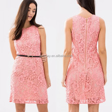 European Style 100% Polyester Plus Size Clothing/Womens Latest Net Dress Designs/Brand Wholesale Clothing