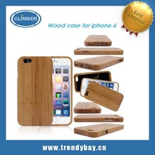 Delicate Natural cherry bamboo Sapele Wood Case For iPhone 6 4.7 inch