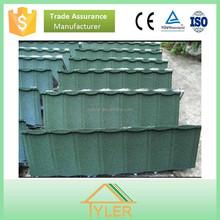 0.40mm stone coated metal roof tiles / dark green color metal roof tiles