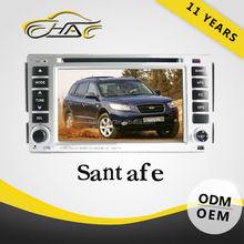 "2 din 6.2"" full hd touch screen car dvd gps for hyundai santafe car navigation"