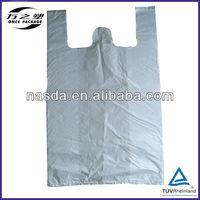 HDPE white plastic bag for shopping
