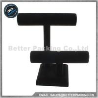 DS002H Black Velvet Wooden Detachable Jewelry Watch Bangle Bracelet Display Stand