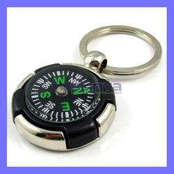 Metal Keychain Compass Luggage Portable