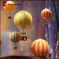 2015 Best Seller Hot Promotion Window Display Props Fake Artifical Decorative Hot Air Balloon