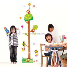 Cartoon animal PVC wall stickers Giraffe Growth Chart Height Measure for kids rooms/decoration wall/home decoration DM57-0129